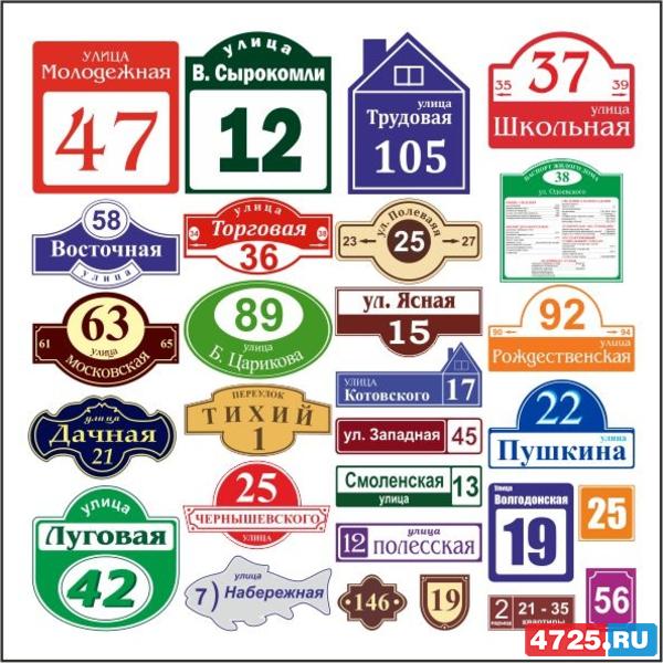 Таблички с номером дома и названием улицы своими руками